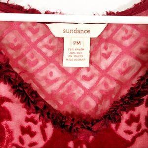 Sundance Tops - SUNDANCE PETITE SENTIMENTAL MOOD TOP - RED - SZ M